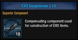 Exo suspension