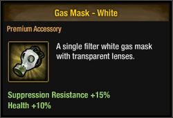 Gas Mask - White