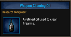Weapon oil