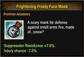 Frightening Frosty Face Mask