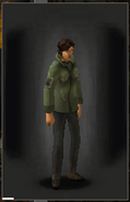 Military Shirt - Green equipped female