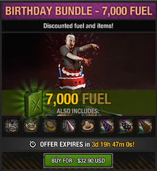 4th anniversary birthday bundle - 7000 fuel