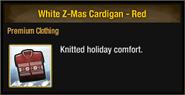White Z-Mas Cardigan - Red