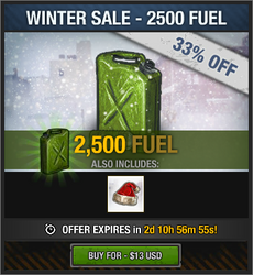 Winter Sale 2018 - 2500 Fuel