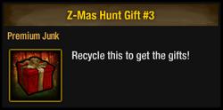Z-Mas Hunt Gift
