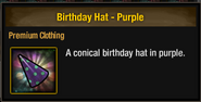 Tlsdz birthday hat purple