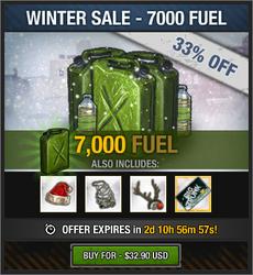 Winter Sale 2018 - 7000 Fuel