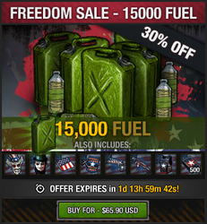 Freedom Sale - 15000 fuel