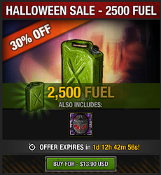 Halloween 2016 Fuel Sale - 2500