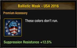 Ballistic Mask - USA 2016