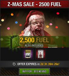 Tlsdz z-mas fuel sale 2500 fuel 2014