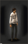 Christmas Cardigan - White - equipped female