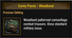 Camo Pants - Woodland