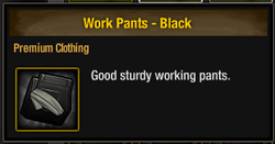 Work Pants - Black