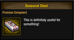 Tlsdz seasonal steel