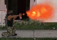 Flame can firing