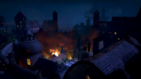 Пожар в Старом городе