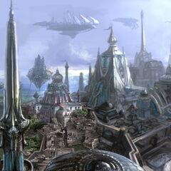 Панорама империи азади. Концепт-арт.
