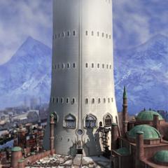 Башня азади, строящиеся казармы и военный лагерь