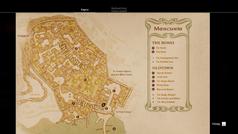 Карта в меню