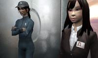 Зои и администратор ВАТИ в лифте