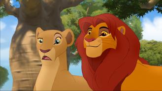 Simba i zdziwiona Nala TLG