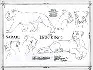 Sarabi model sheet