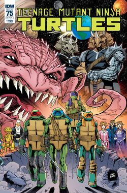 TMNT -75 Regular Cover by Cory Smith