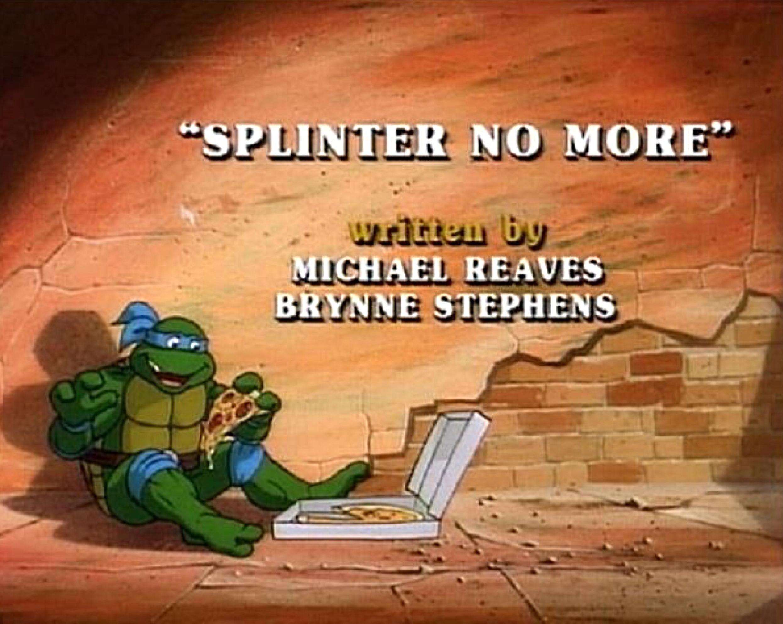 Splinter No More Tmntpedia Fandom