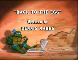 Back to the Egg Title Card