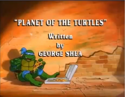Planet of the Turtles Title Card