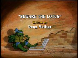 Beware the Lotus