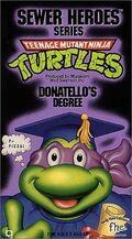 TMNT Donatello's Degree VHS