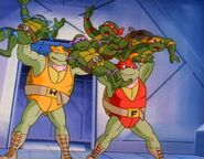 Teenage mutant ninja turtles 1987 season4 part2 turtles wrestlers
