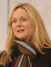 Laura Linney at the Lincoln Memorial, January 2009