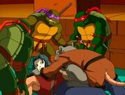 Raph,Don,Mikey, Casey and Master Splinter 1