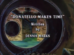 Donatello Makes Time Title Card
