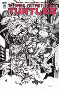 TMNT -76 Excelsior Collectibles Retailer Exclusive Black & White Cover by Alex Kotkin