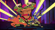 Mikey, Raph, and Leo