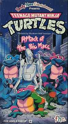 TMNT Attack of the Big MACC VHS
