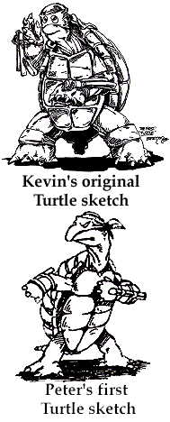 The original TMNT-sketches