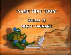 Name That Toon Title Card