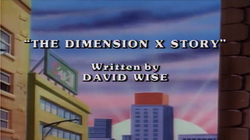 The Dimension X Story Title Card