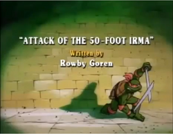 Attack of the 50-foot Irma Title Card