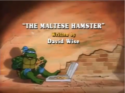 The Maltese Hamster Title Card