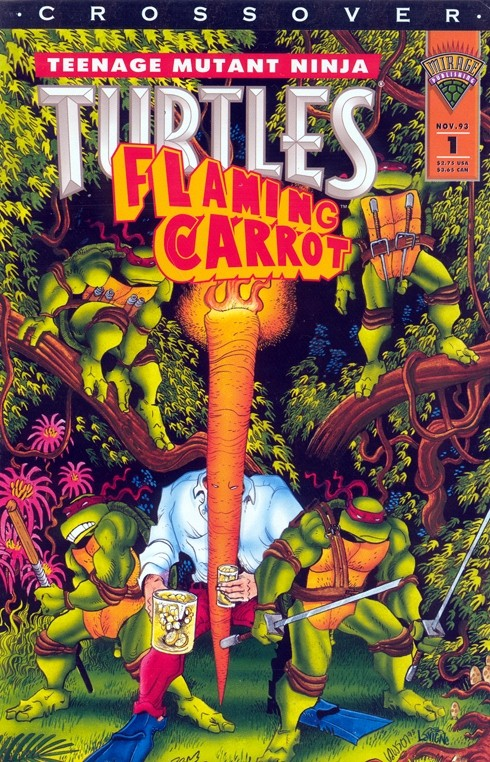 Image result for flaming carrot comics and teenage mutant ninja turtles