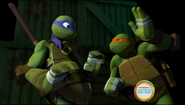 Donatello and Michelangelo