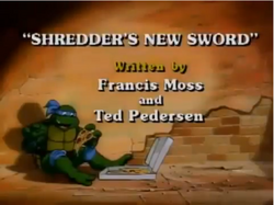 Shredder's New Sword Title Card