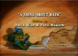 A Thing About Rats Title Card