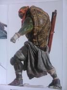 Michelangelo back body art